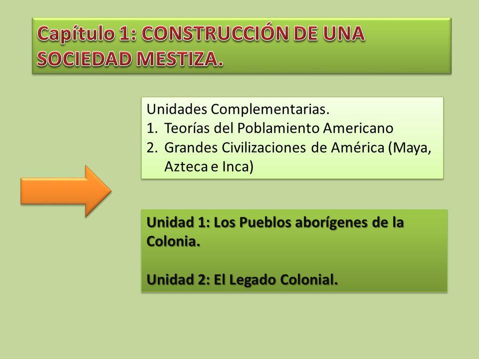 Capítulo 1: CONSTRUCCIÓN DE UNA SOCIEDAD MESTIZA.