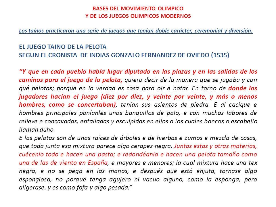 BASES DEL MOVIMIENTO OLIMPICO Y DE LOS JUEGOS OLIMPICOS MODERNOS