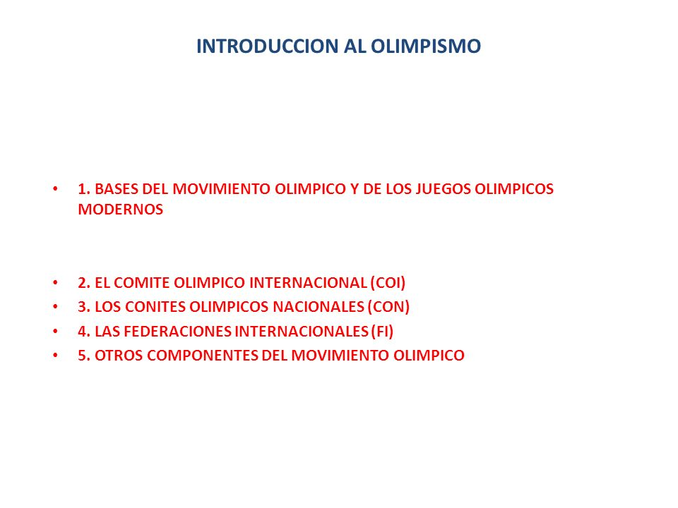 INTRODUCCION AL OLIMPISMO
