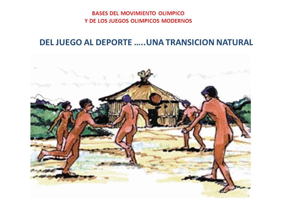 DEL JUEGO AL DEPORTE …..UNA TRANSICION NATURAL