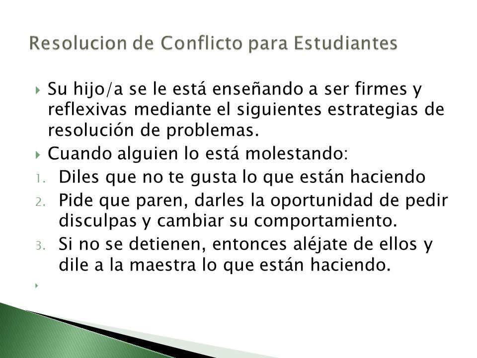 Resolucion de Conflicto para Estudiantes