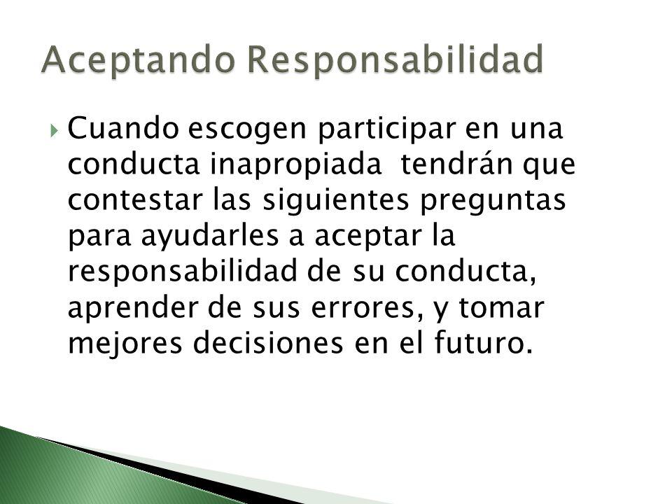 Aceptando Responsabilidad