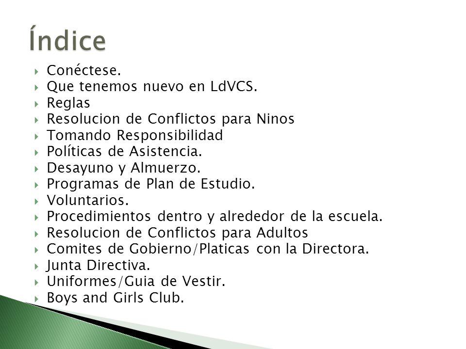 Índice Conéctese. Que tenemos nuevo en LdVCS. Reglas