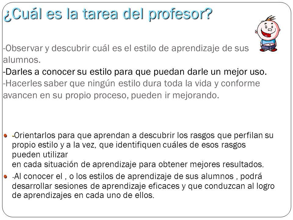 ¿Cuál es la tarea del profesor