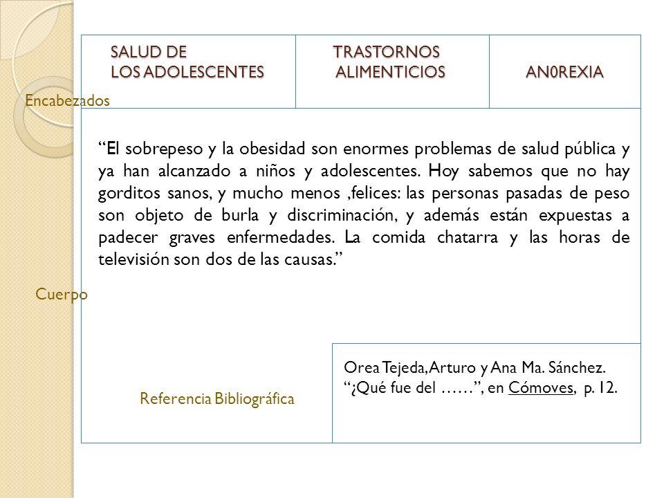 SALUD DE TRASTORNOS LOS ADOLESCENTES ALIMENTICIOS AN0REXIA