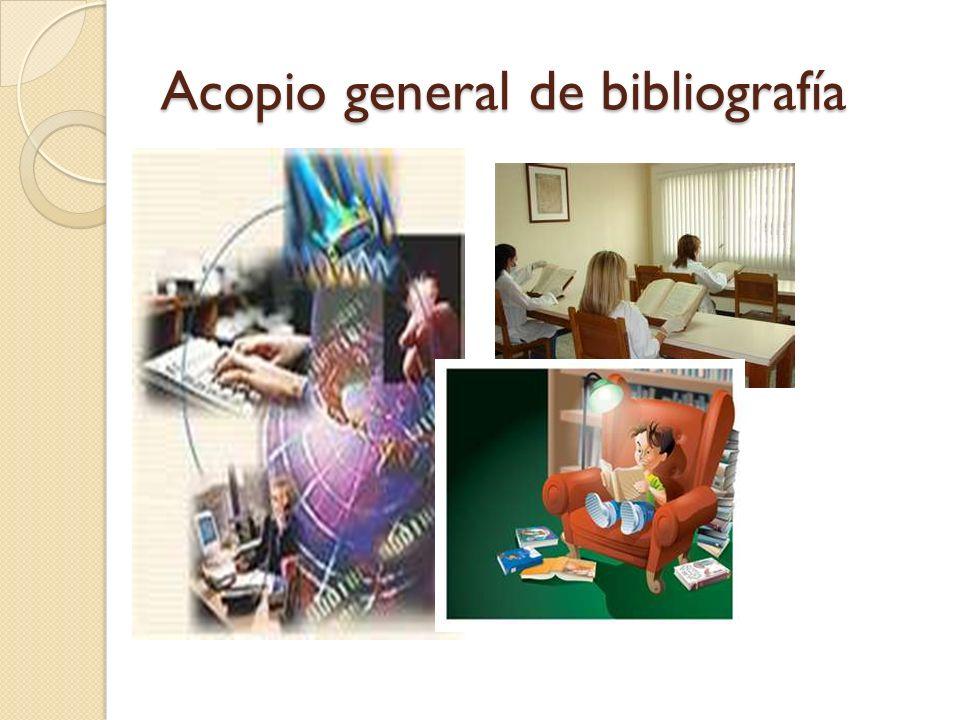 Acopio general de bibliografía