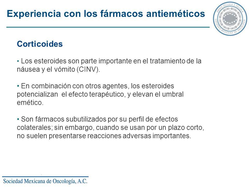 Experiencia con los fármacos antieméticos