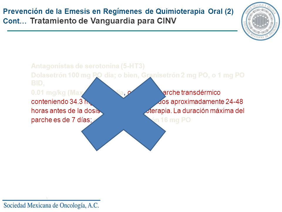 Prevención de la Emesis en Regímenes de Quimioterapia Oral (2)