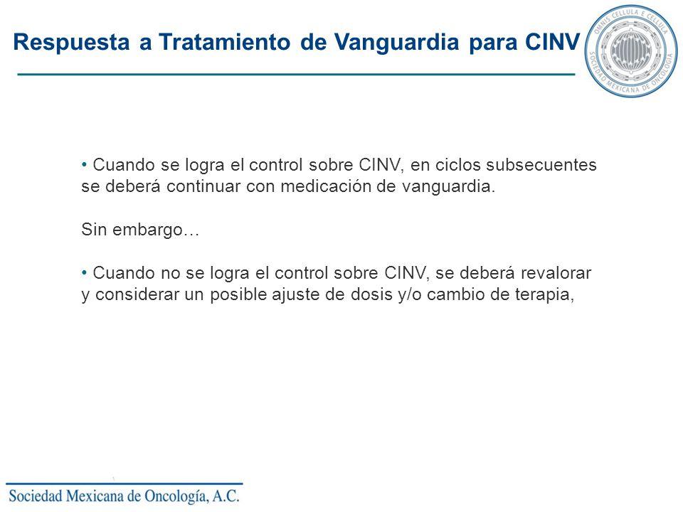 Respuesta a Tratamiento de Vanguardia para CINV