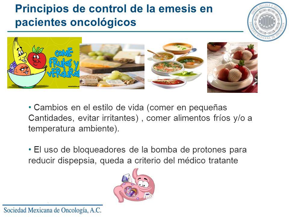 Principios de control de la emesis en pacientes oncológicos