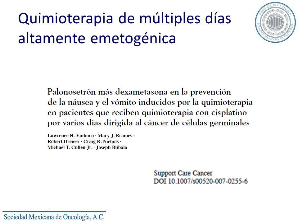 Quimioterapia de múltiples días altamente emetogénica