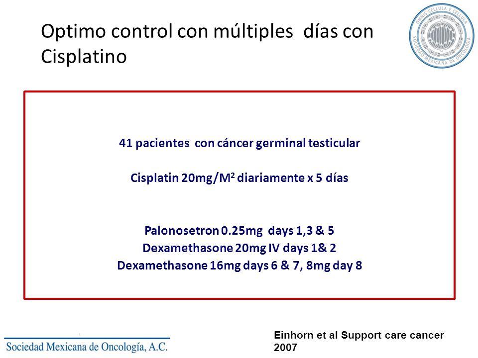 Optimo control con múltiples días con Cisplatino