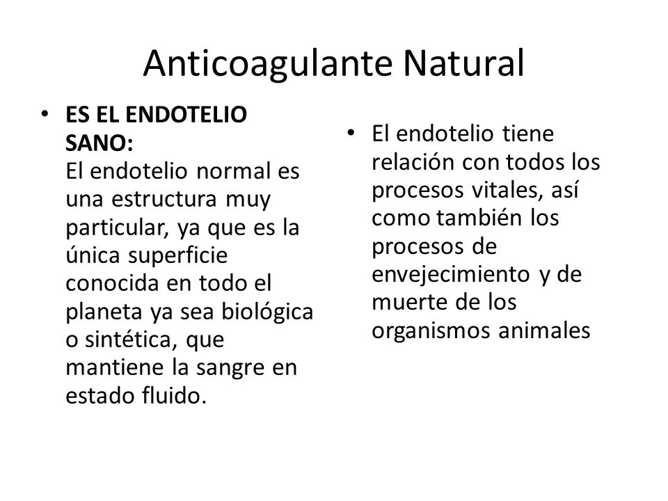 Anticoagulante Natural