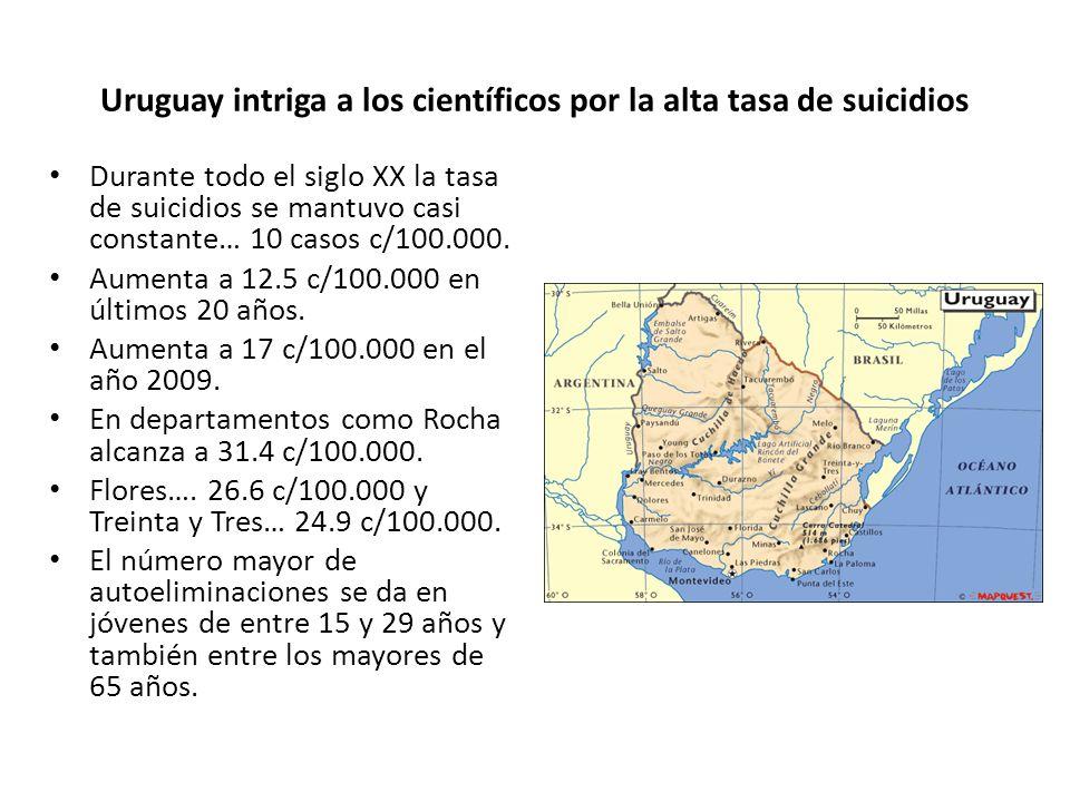 Uruguay intriga a los científicos por la alta tasa de suicidios