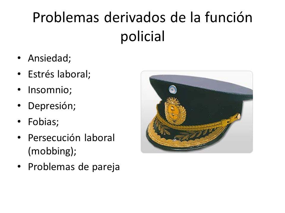 Problemas derivados de la función policial