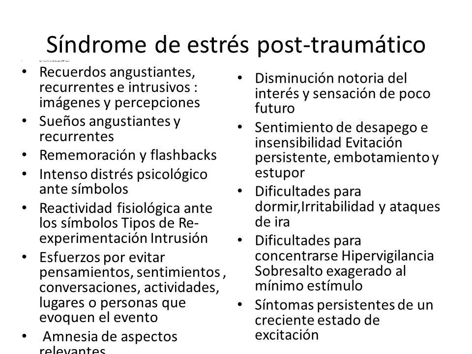 Síndrome de estrés post-traumático