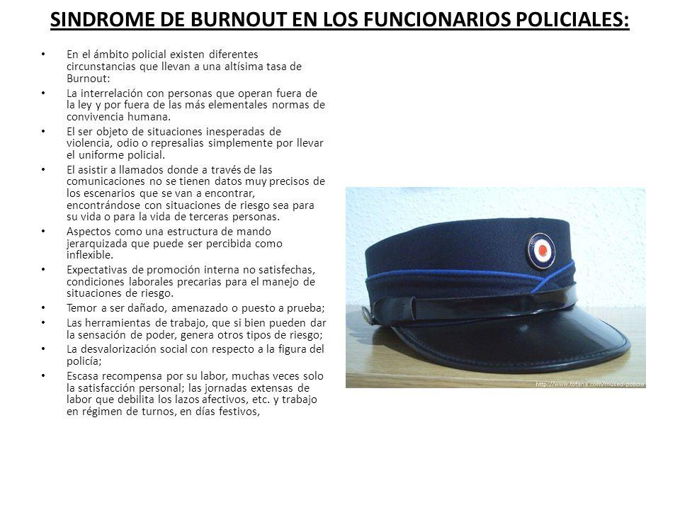 SINDROME DE BURNOUT EN LOS FUNCIONARIOS POLICIALES: