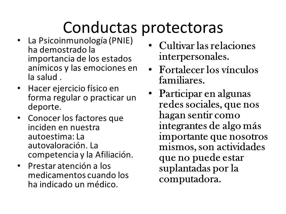 Conductas protectoras