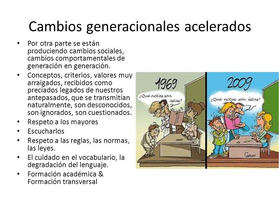 Cambios generacionales acelerados