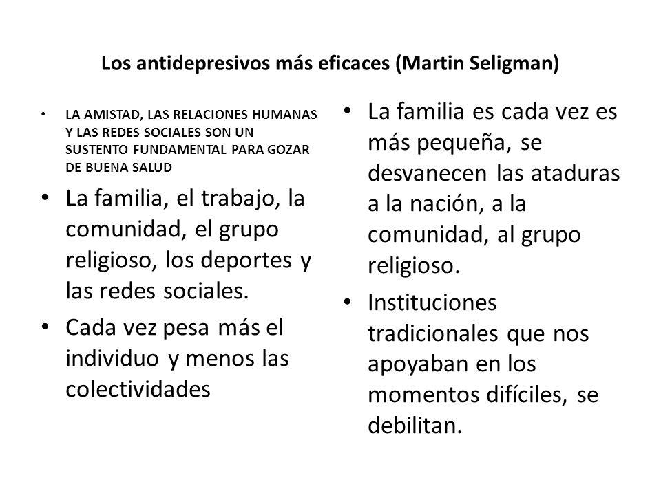 Los antidepresivos más eficaces (Martin Seligman)