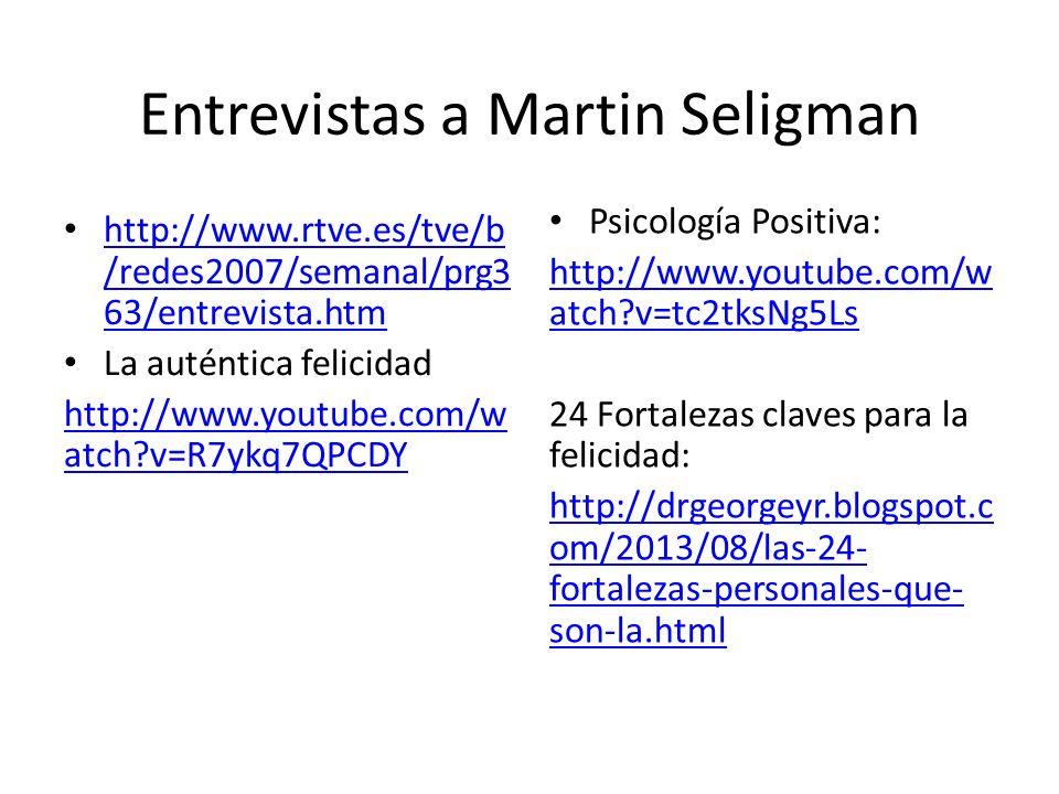 Entrevistas a Martin Seligman