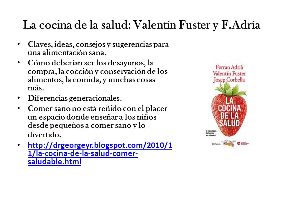 La cocina de la salud: Valentín Fuster y F.Adría