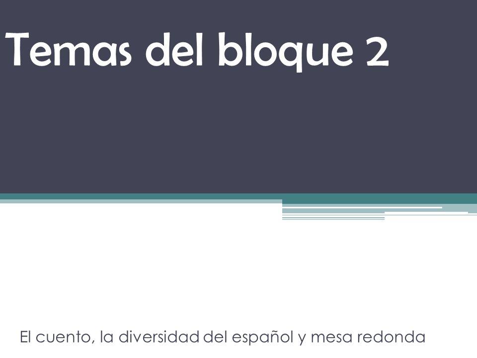 El cuento, la diversidad del español y mesa redonda