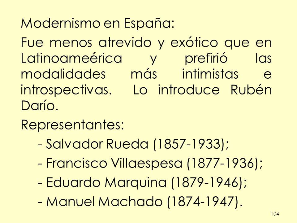 - Francisco Villaespesa (1877-1936); - Eduardo Marquina (1879-1946);