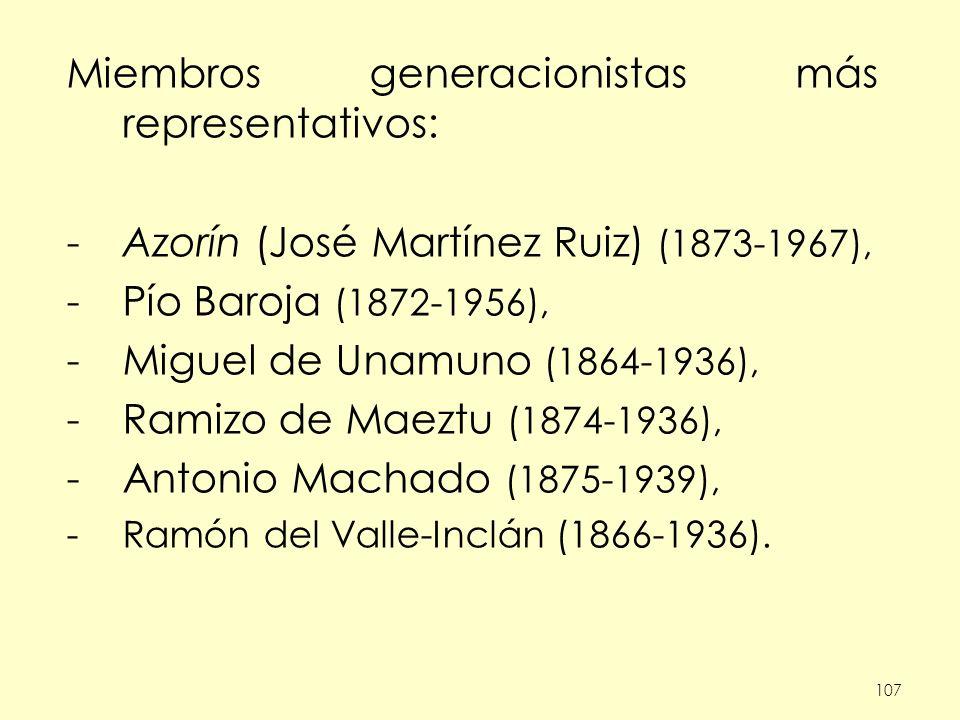 Miembros generacionistas más representativos: