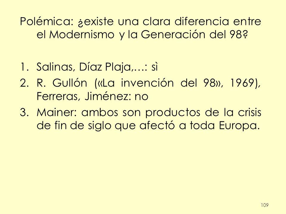 Salinas, Díaz Plaja,…: sì