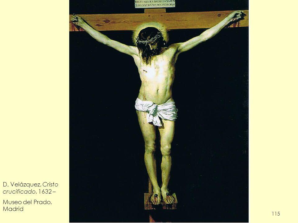 D. Velázquez, Cristo crucificado, 1632 – Museo del Prado, Madrid