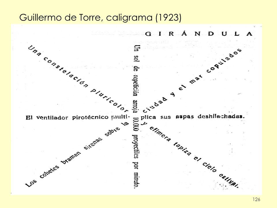Guillermo de Torre, caligrama (1923)