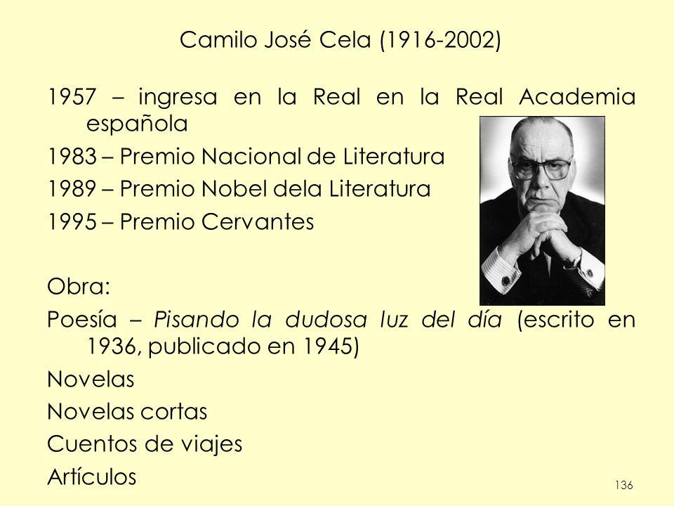 1957 – ingresa en la Real en la Real Academia española