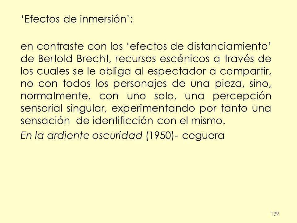 'Efectos de inmersión':