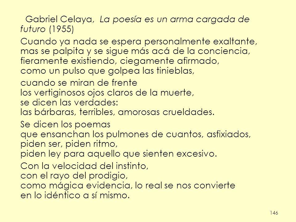 Gabriel Celaya, La poesía es un arma cargada de futuro (1955)