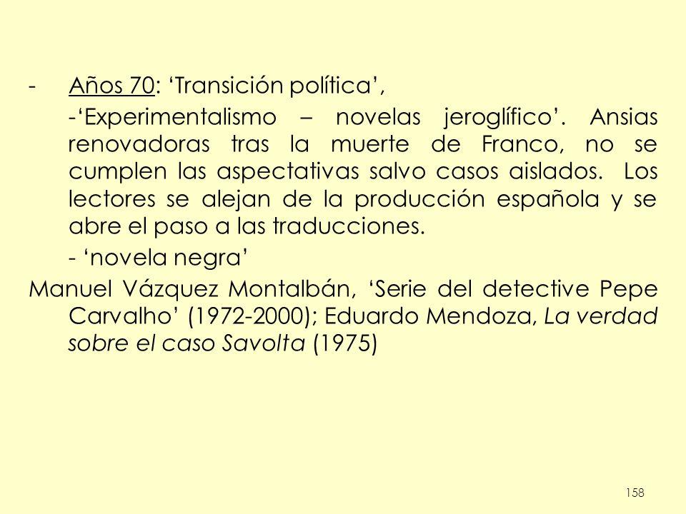 Años 70: 'Transición política',