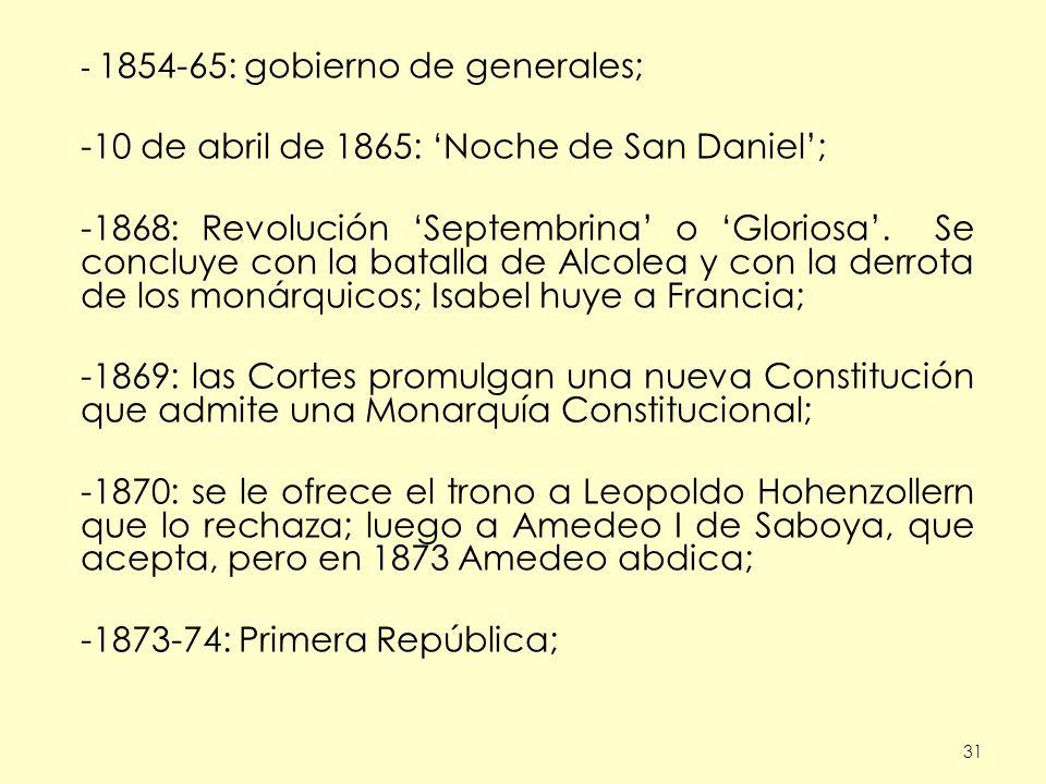 10 de abril de 1865: 'Noche de San Daniel';