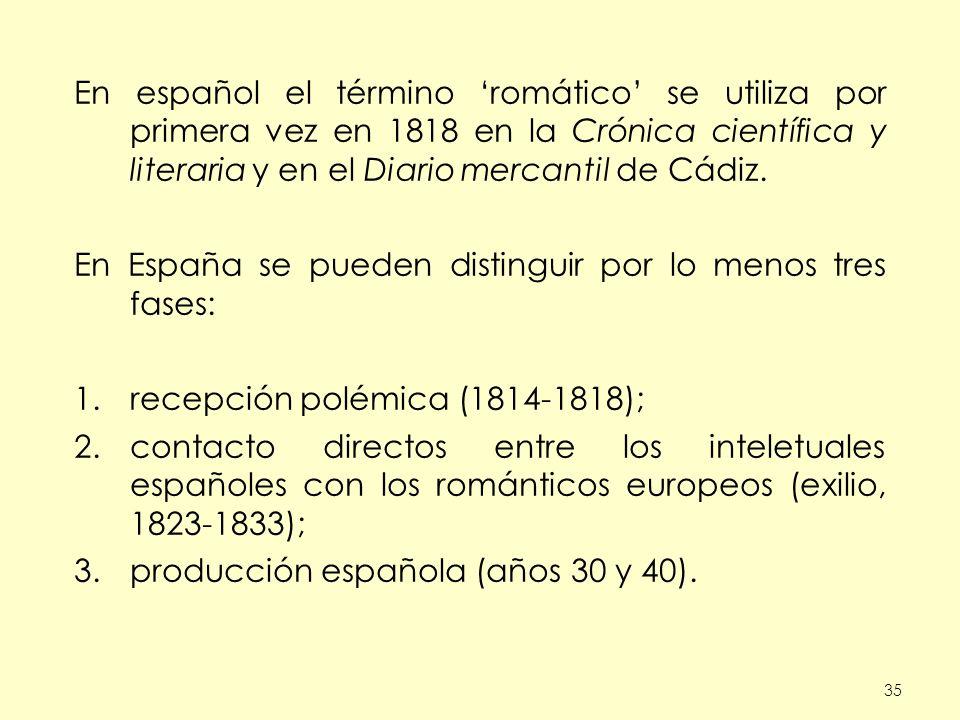 En España se pueden distinguir por lo menos tres fases: