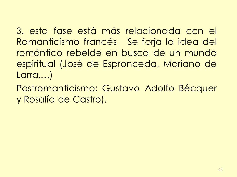 Postromanticismo: Gustavo Adolfo Bécquer y Rosalía de Castro).