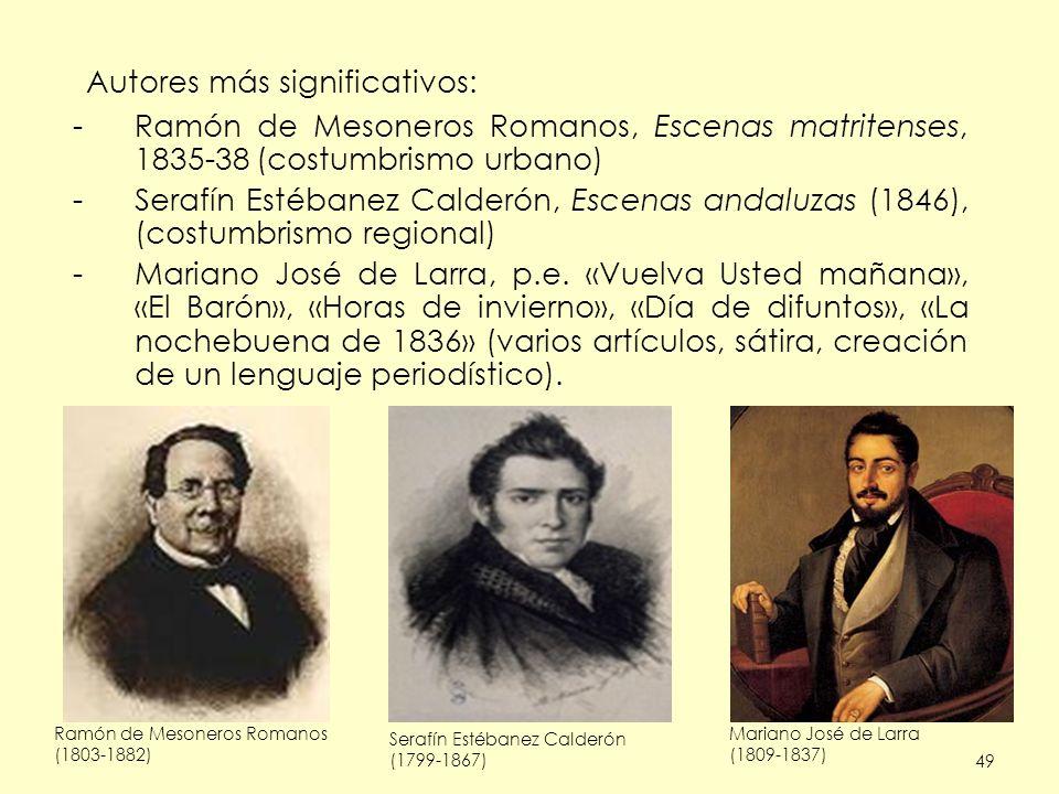 Autores más significativos: