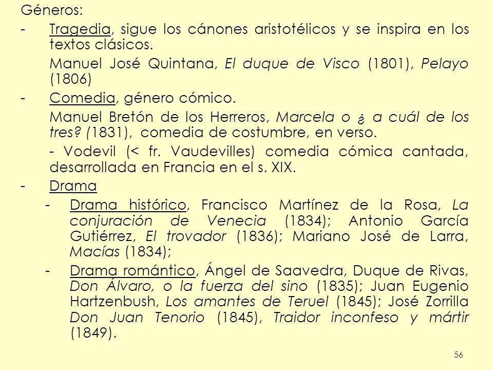 Manuel José Quintana, El duque de Visco (1801), Pelayo (1806)