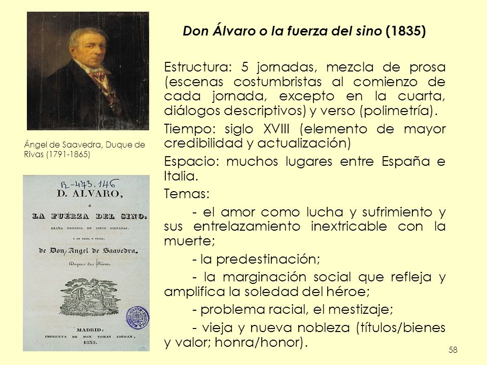 Don Álvaro o la fuerza del sino (1835)
