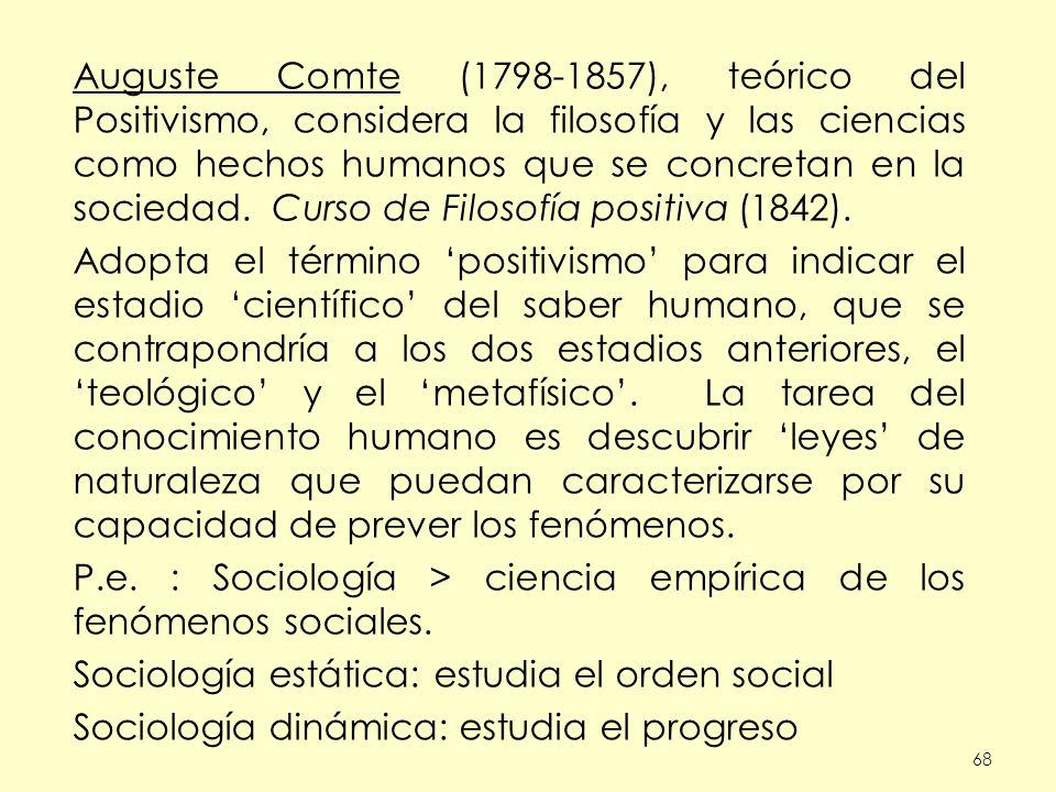 P.e. : Sociología > ciencia empírica de los fenómenos sociales.