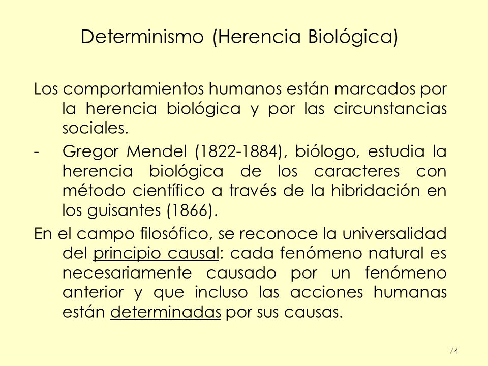 Determinismo (Herencia Biológica)