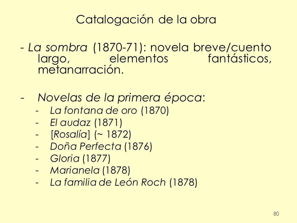 Catalogación de la obra