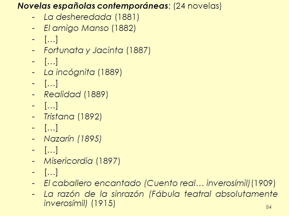 Novelas españolas contemporáneas: (24 novelas) La desheredada (1881)
