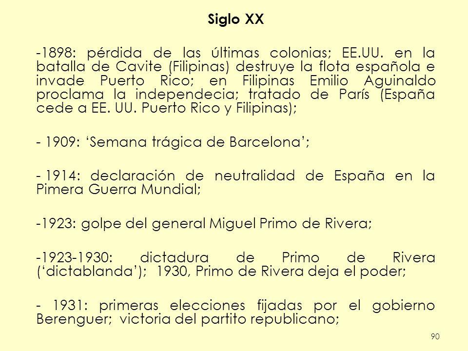 1909: 'Semana trágica de Barcelona';