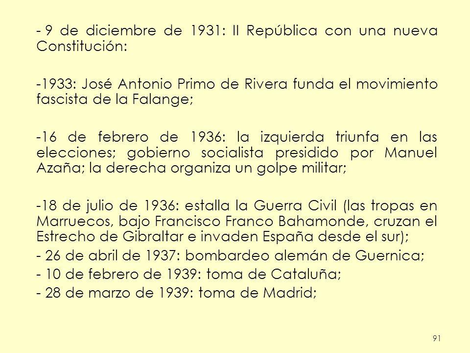 9 de diciembre de 1931: II República con una nueva Constitución: