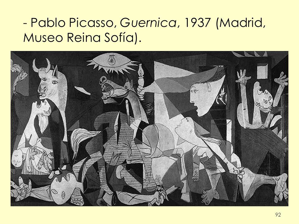 Pablo Picasso, Guernica, 1937 (Madrid, Museo Reina Sofía).