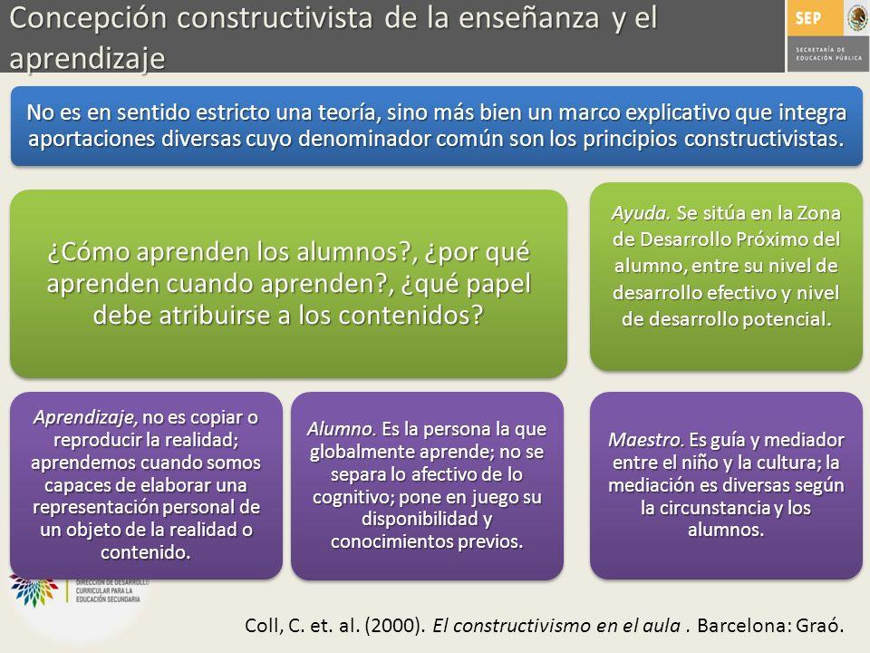 Concepción constructivista de la enseñanza y el aprendizaje